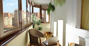 Интерьер балкона 12