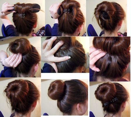 Причёска из резинки бублик