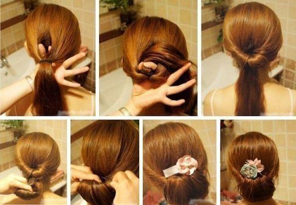 Причёски на каждый день для длинных волос своими руками в школу