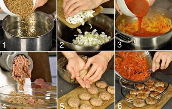Гречанки с мясом рецепт с фото