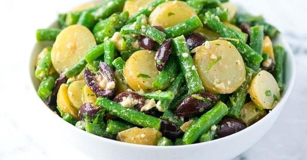 стручковая фасоль и мясо салат рецепт