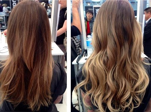 фото брондирование волос до и после