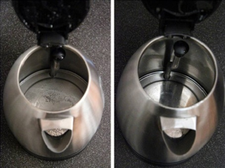 как убрать накипь в чайнике3