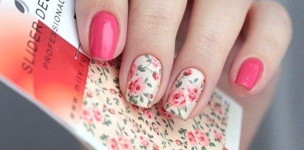 Маникюр с розовым гель-лаком фото с дизайном