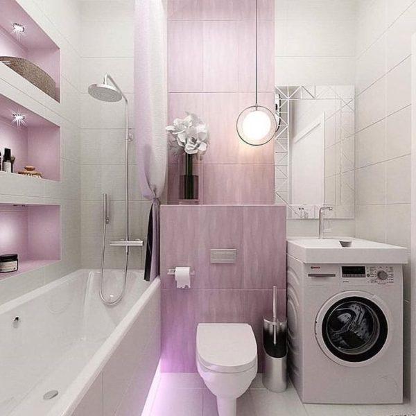 маленькая ванна дизайн фото